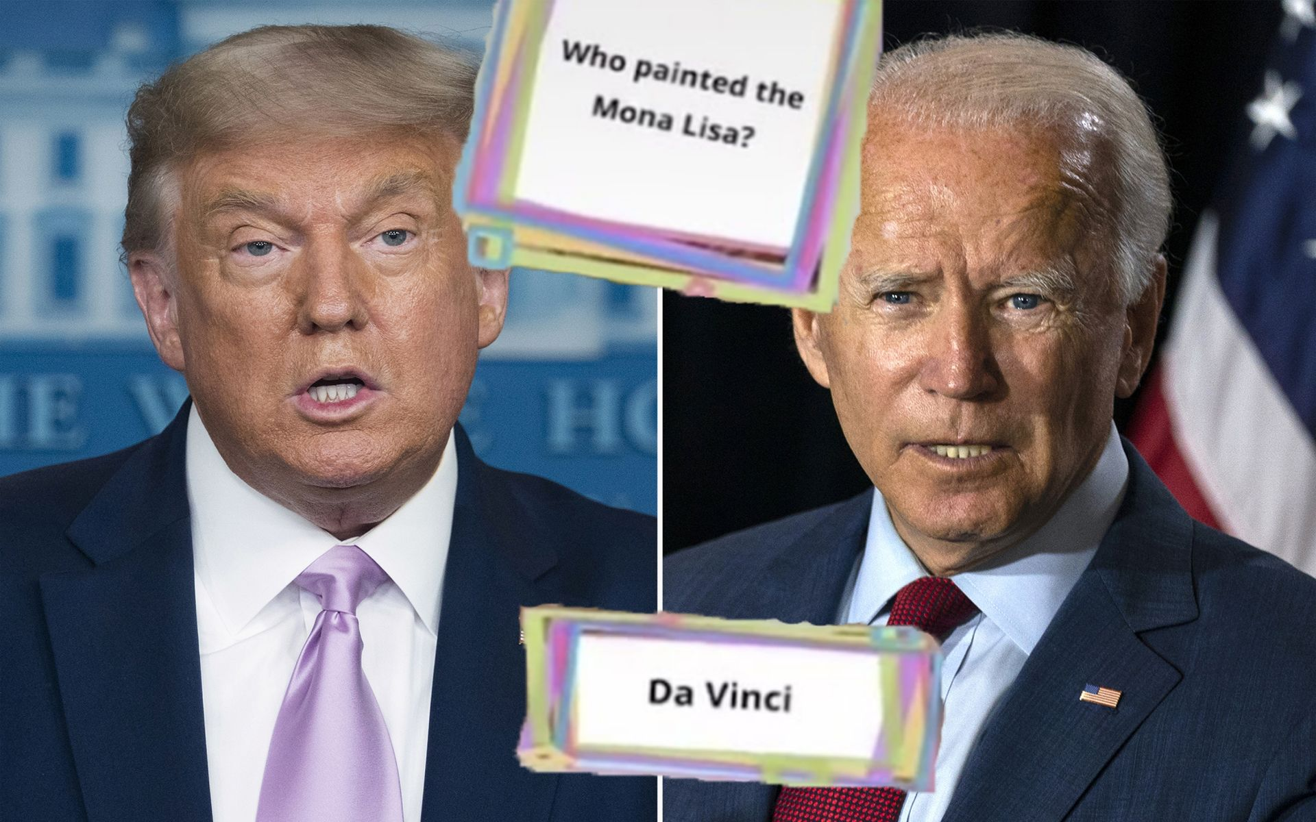 Both Trump And Biden Don't Know Who Painted Mona Lisa