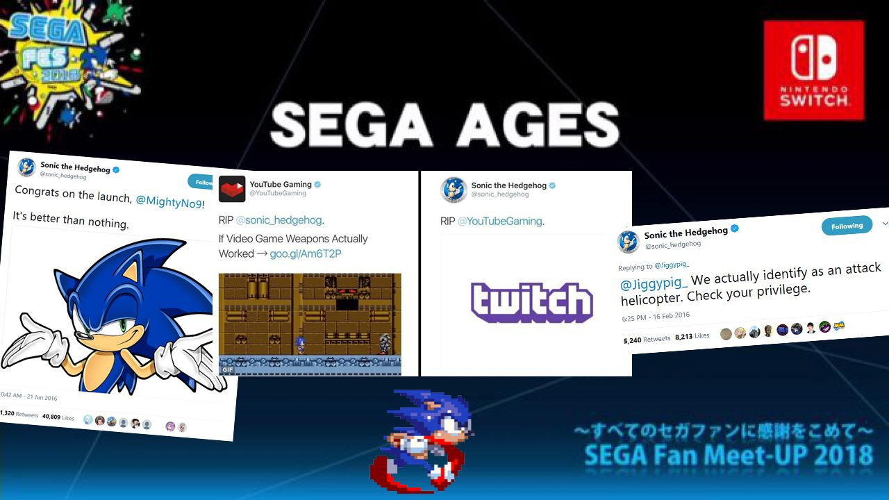 "Sega's Best Content Coming To Nintendo Switch With ""Sega Ages"", Is Literally Just The Sonic Twitter Account"