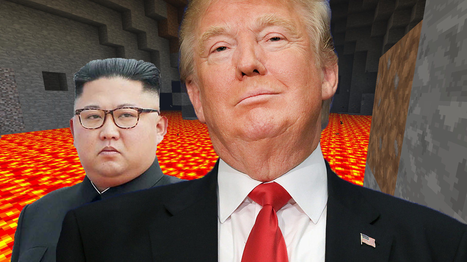 Tensions With North Korea Escalate After Trump Tells Kim Jong-un To Dig Straight Down In Minecraft
