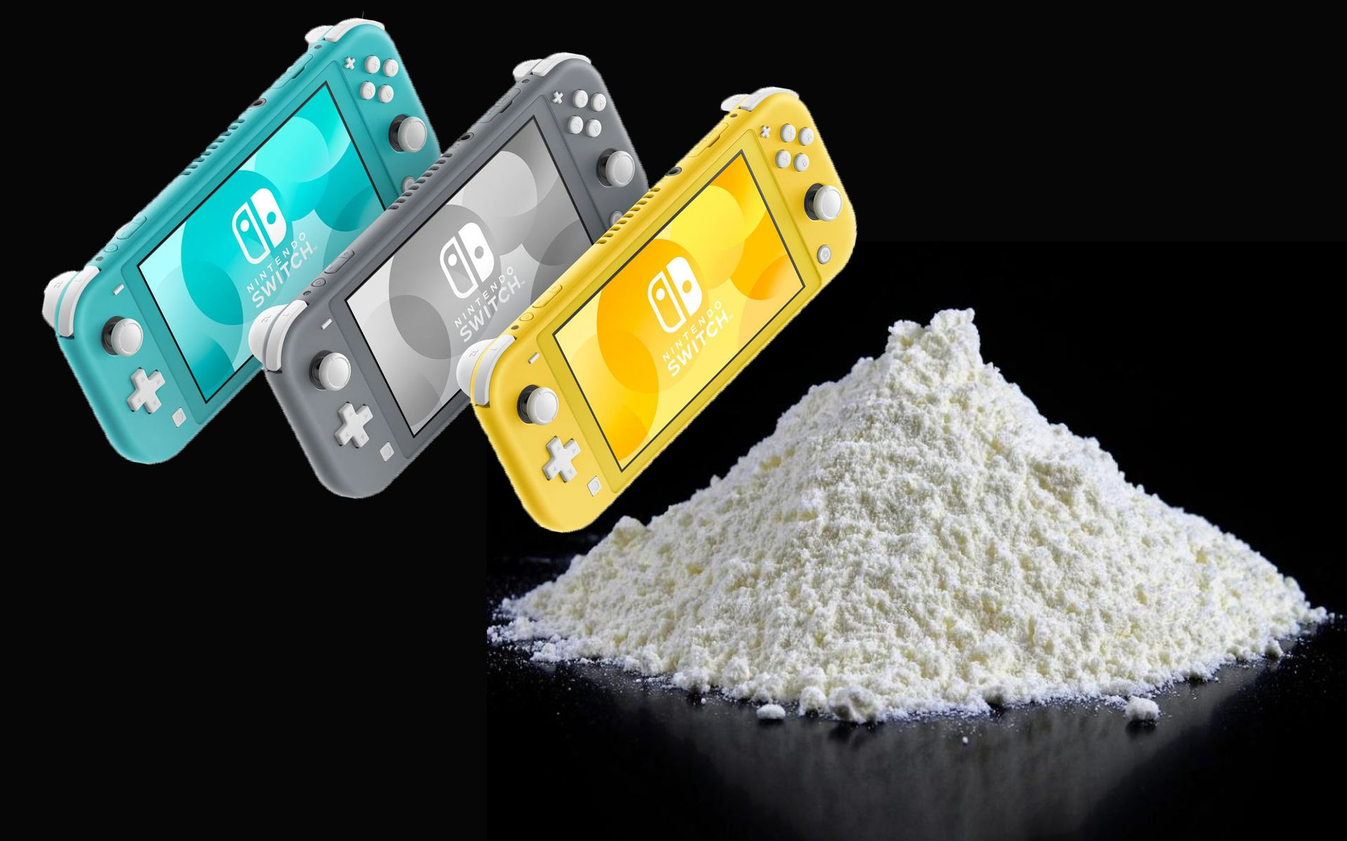 All Nintendo Switch Lites Come Packaged With Sixty Pounds Of Cocaine