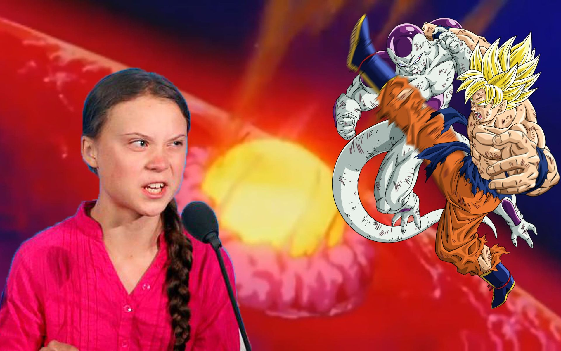 "Greta Thunberg Takes Aim At Goku And Friends: ""Stop Destroying Planets"""
