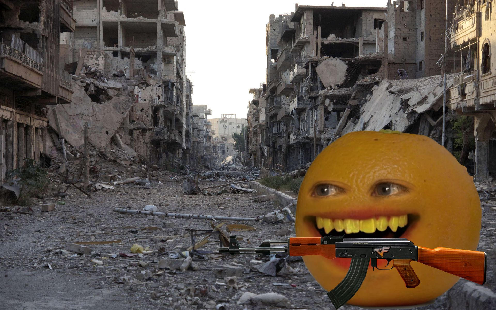 BREAKING: Trump Deploys Annoying Orange To Iran, Violating Geneva Convention And Committing Several War Crimes