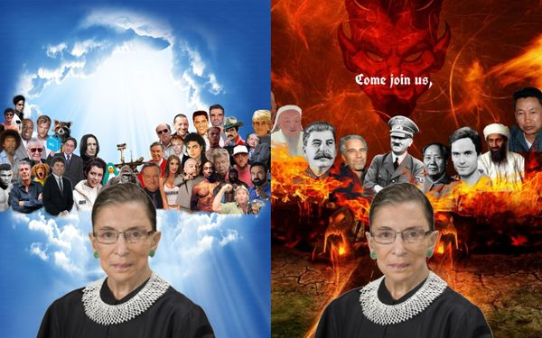 Senate Can't Agree On Whether To Photoshop RBG Into Heaven Or Hell Meme