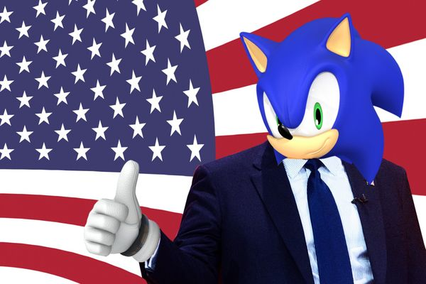 "Make The Right Choice For Our Youth And The Future Of Our Country;  Change The National Anthem To ""Escape From The City"" - Sonic Adventure 2"