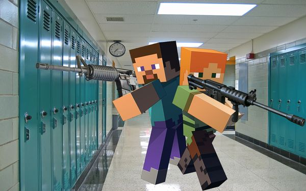 Minecraft Causes School Shootings
