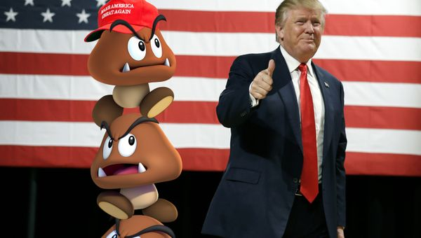 Trump Nominates Three Goombas Stacked On Top Of Each Other For Supreme Court