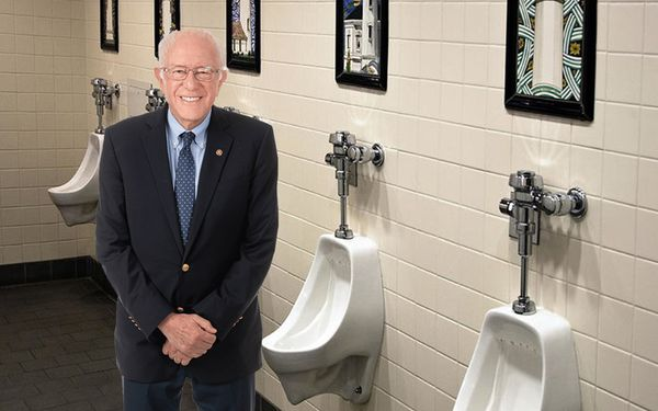 BREAKING: Bernie Sanders Suspends Campaign To Go Take A Piss